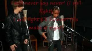 Justin Bieber-Never Say Never ft. Jaden Smith With Lyrics
