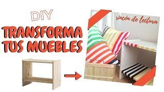 TRANSFORMANDO UNA MESITA DE IKEA   Decora con muebles baratos   COJINES SIN CREMALLERA