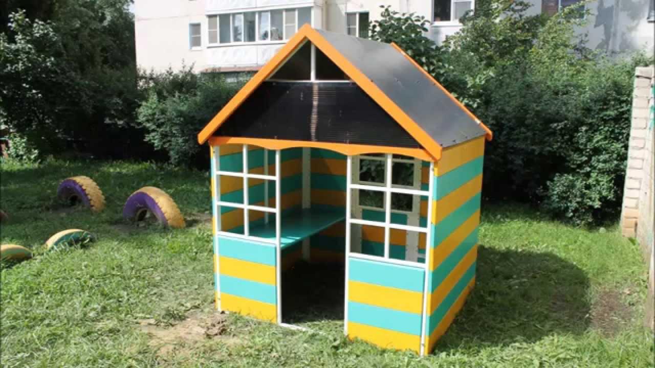 Детский домик своими руками из поликарбоната 15