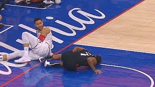 Ben Simmons Elbows Kyle Lowry In The Groin! Raptors vs Sixers Game 3