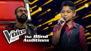 Janith Kalhara | Yesterday's Dream | Blind Auditions | The Voice Teens Sri Lanka