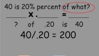 Solving percentage problems using reading skills.wmv