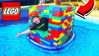 BUILDING A GIANT LEGO BOAT ON WATER!