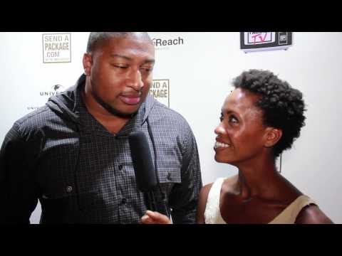 sendapackage.com interviews Stephen Bowen of The Washington Redskins at Renee Graziano birthday party. July 2013.
