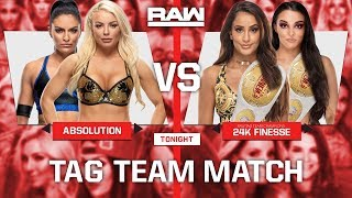 WWE 2K19 Universe Mode  - Raw - Absolution v 24k Finesse  (Laycool Attacks 24K Finesse)