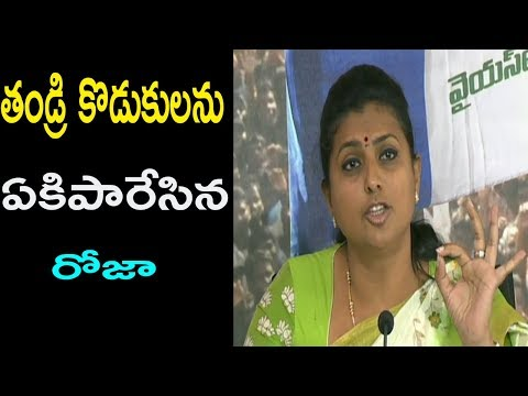 YSRCP MLA RK Roja  Says Chandrababu has done nothing to Andhra Pradesh | Cinema Politics