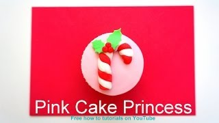 Christmas Cupcakes - How-to Make a Christmas Candy Cane Cupcake