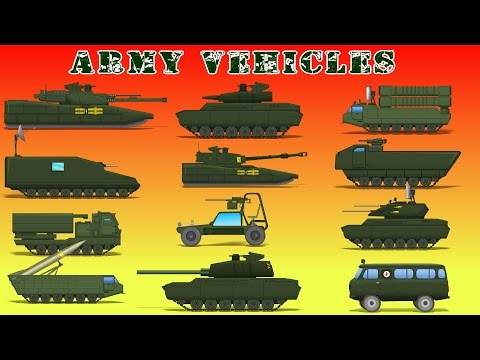 Army Vehicles | Car Videos For Kids | Military Cartoons