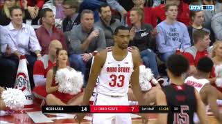 (NCAAM) Nebraska Cornhuskers at #13 Ohio State Buckeyes in 40 Minutes (1/22/18)