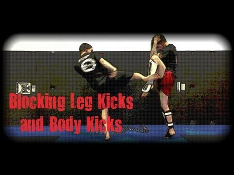 Muay Thai - How to Check (Block) Leg Kicks and Body Kicks Image 1