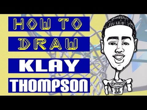 How to Draw a Quick Caricature - Klay Thompson Splash Brothers part 1