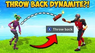 *TRICK* THROW DYNAMITE BACK! - Fortnite Funny Fails and WTF Moments! #397