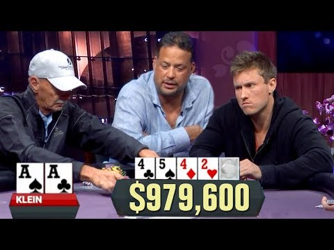 This Will Make You Cry. POCKET ACES In A $979,600 Pot