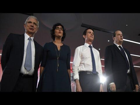 """Meeting : Manuel Valls cible une droite """"destructrice"""" pour remobiliser le PS"""