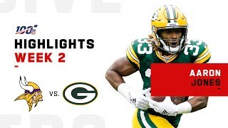 Aaron Jones Speeds Past Vikings for 116 Yds & 1 TD | NFL 2019 Highlights