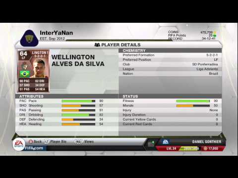 FIFA 13 ULTIMATE TEAM   Player Review - Wellington Silva!