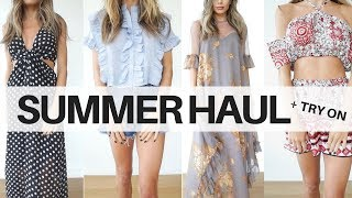 Summer boohoo Haul + Try On (Special Occassion | Travel | Summer Casual)