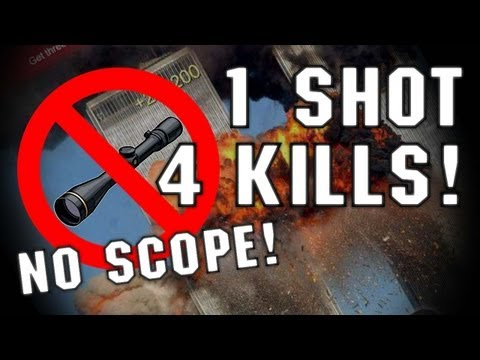 1 Shot 4 Kills - No Scope (cheater? Nao Sei)?