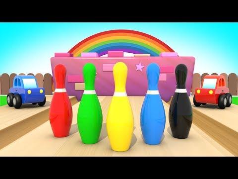 Машинки Играют в Боулинг - Развивающий Мультик для Детей  / Учим Цвета  / Волшебство ТВ