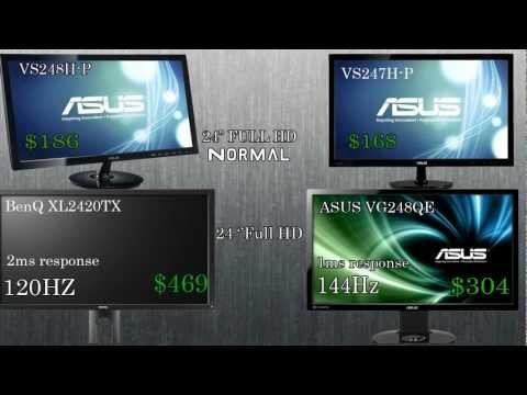 BEST 24'' GAMING MONITORS 2013 + 120hz Gaming Monitors & Myths