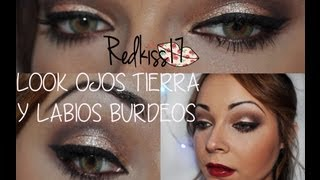 Tutorial look: ojos tierra/labios burdeos