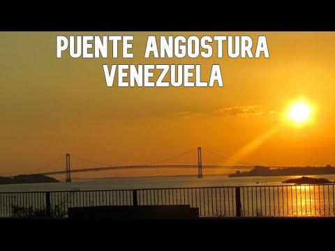 puente angostura sobre rio orinoco cuidad bolivar venezuela en moto