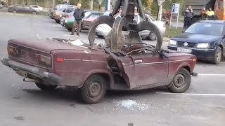 Утилизация автомобилей #3 [Подборка] (2015) - Car recycling #3 [Compilation] (2015)