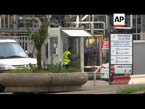 Fuel shortage fears at petrol station, Lyon refinery, Marseille