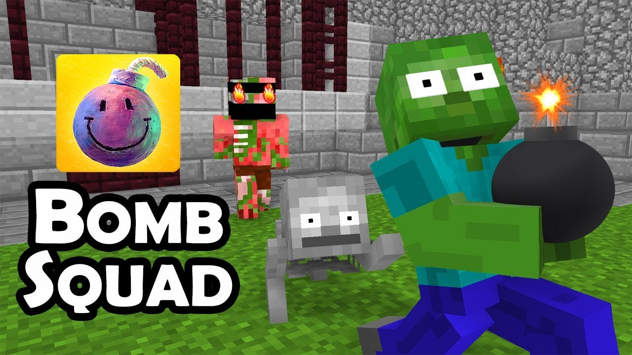 Monster School : BOMBSQUAD CHALLENGE - Minecraft Animation