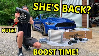 Boosting Our Wrecked 2017 Mustang GT!!!