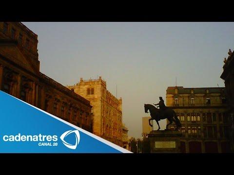Impresionantes imágenes del amanecer en la Ciudad de México