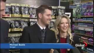 Michael Bublé and Luisana Lopilato gift treats to B C  dogs in need this Christmas