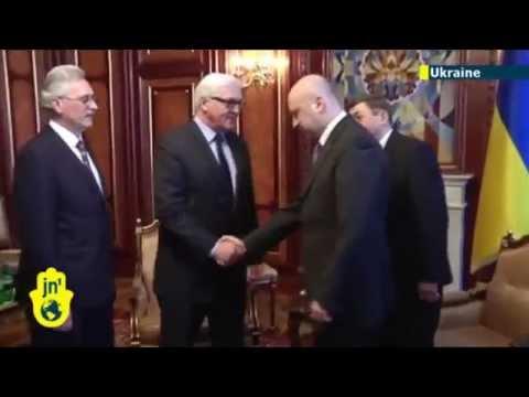 Russian Occupation of Crimea: UN's Ban Ki-moon praises new Ukrainian PM Arseniy Yatsenyuk in Kiev