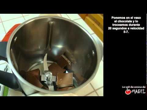 Cobertura de chocolate con thermomix - La web de cocina de Mabel