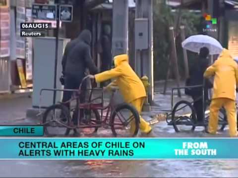 Central Areas of Chile Struck by Heavy Rains