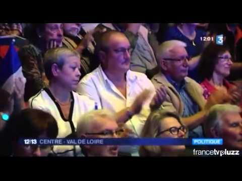 Marine le Pen à Bourges   Régionales 2015   France 3 Centre