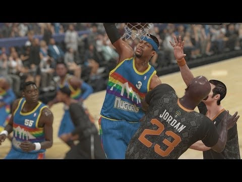 NBA 2K14 PS4 My Team - Iverson Posterizes Jordan!
