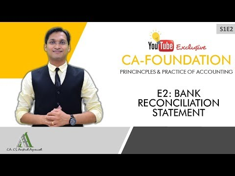 Web Series S1E2 | Bank Reconciliation Statement | CA-Foundation Accounts | Fastrack Revision