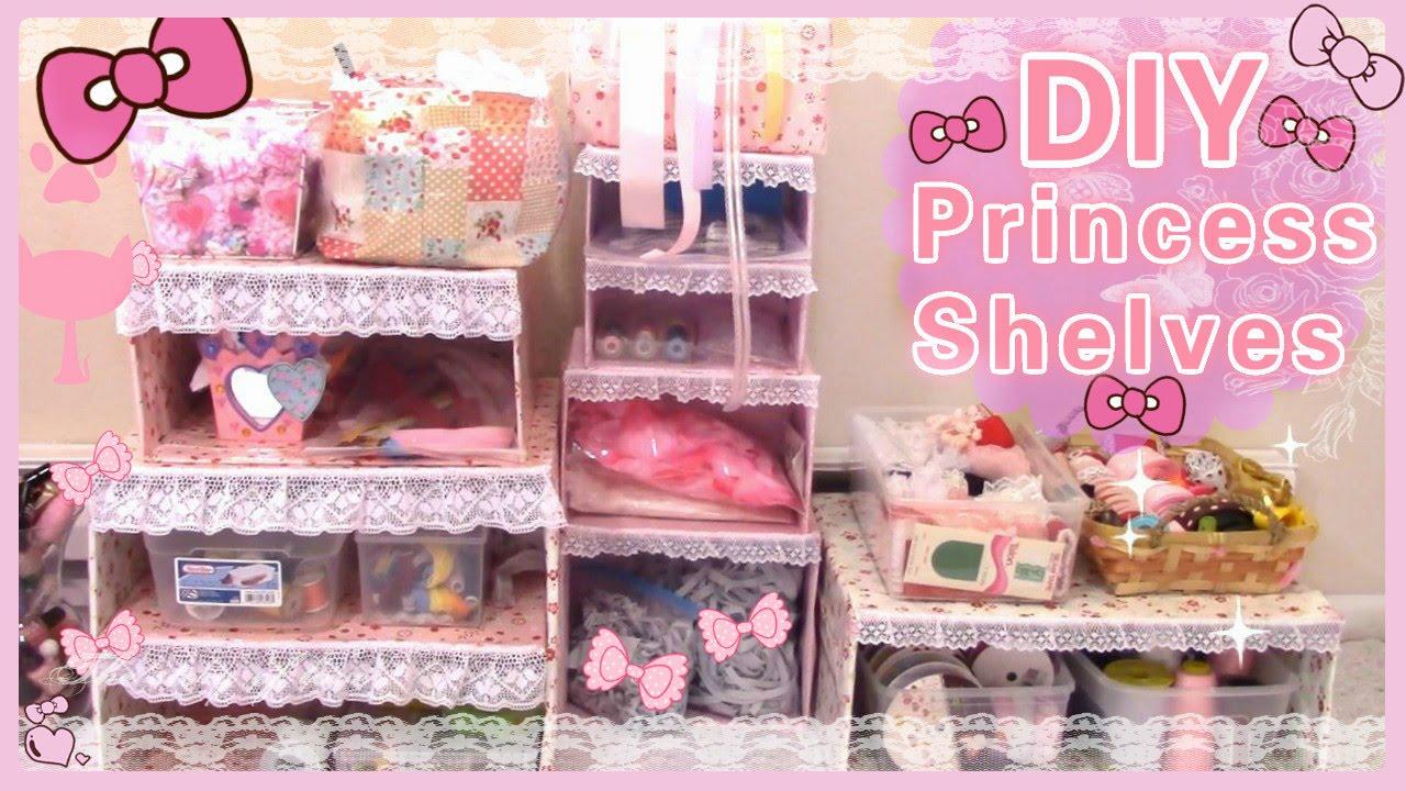 Diy room decor make your own princess shelves easy youtube