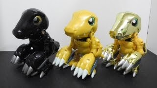 デジモンDigimon figure review-Variation of Agumon(BlackAgumonアグモン(黒) & ShinyAgumon)