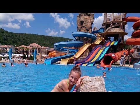 МЕГА Аквапарк в Болгарии аквапарк Атлантида Елените часть 1