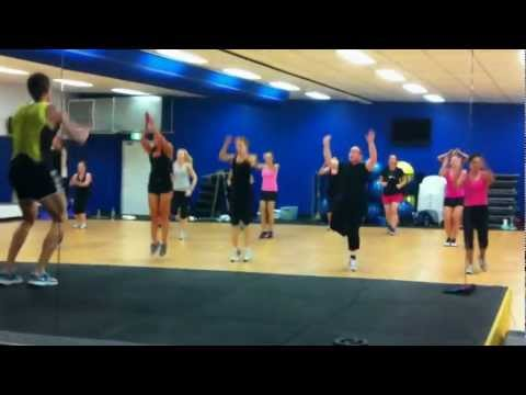 Body Attack Les Mills Master Trainer Steve Cuff At Ultimate Gym And Fitness.avi video