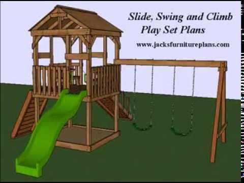Play set swingset plans easy to follow step by step youtube for Design your own playground online