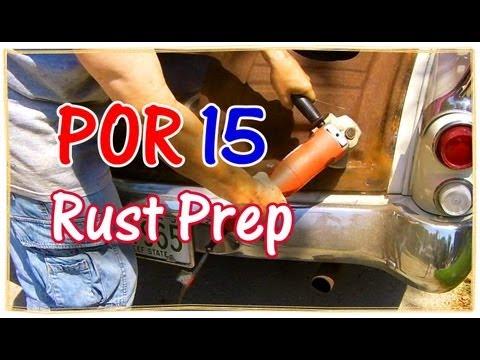 How to Prep Metal Before Using POR 15