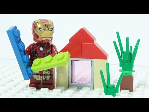 LEGO IRON MAN Brick Building Summer House Superheroes Animation for Kids