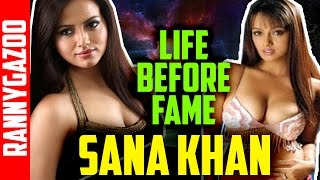 Sana khan biography, profile, family, movies, age, bio, wiki, early life, childhood-Life before fame