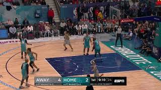 Migos Quavo & Ray Allen game highlights NBA AllStar 2019 - Charlotte