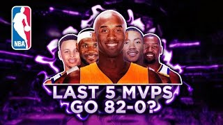 Could The Last 5 NBA MVPs go 82-0?