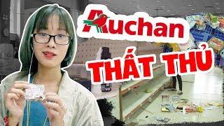 Siêu thị Auchan tan hoang : Phá hoại,  xé thức ăn, cướp hàng... quá xấu hổ !