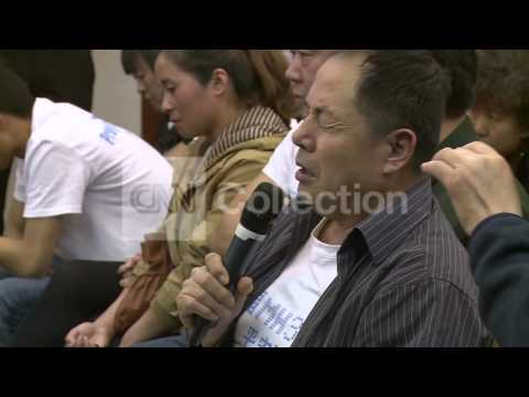 CHINA: MH370 FAMILIES REACT TO FINAL TRANSMISSION